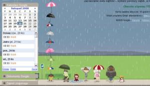 Spadające parasolki i Labs po lewej!