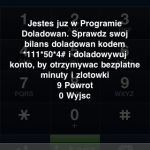 Info o wczonym programie doadowa